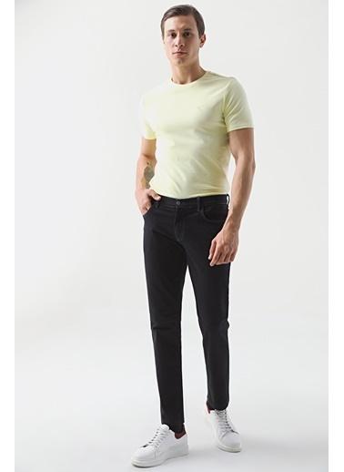 D'S Damat Slim Fit Düz Chino Pantolon Mavi